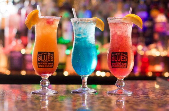 This is a photo of hurricane cocktails.
