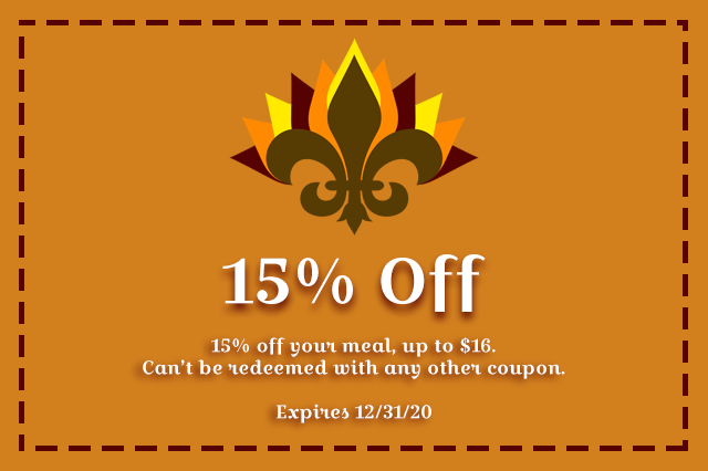 Thanksgiving Coupon @ Bourbon Street Blues and Boogie Bar